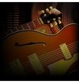 jazz guitar close up acoustic speakers vector image
