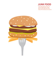 junk food background isolated vector image vector image