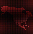 LED panel - north america vector image vector image