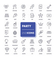 line icons set party vector image vector image