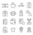 loyalty program line icons set vector image vector image