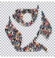 man symbol people Transparency vector image vector image
