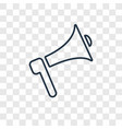 megaphone concept linear icon isolated on vector image