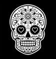 mexican skull with patterns vector image vector image