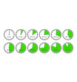 minutes time dial schematic stopwatch timer vector image
