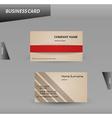 modern design cardboard business card template vector image vector image