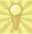 one ball ice cream cone vector image vector image
