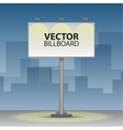 Outdoor billboard at night vector image