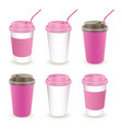 paper cup 05 vector image vector image