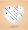 paper hearts valentines day abstract infographic vector image
