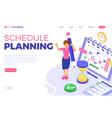 planning schedule time management vector image