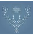 Polygonal deer doted line dark vector image vector image
