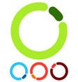 preloader or buffer shapes circular elements vector image vector image
