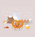 pretzel recipe cooking class vector image vector image
