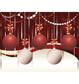 Red and White Xmas Balls2 vector image vector image