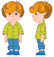 red haired boy vector image vector image