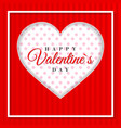 retro valentine card with hearts greeting card vector image