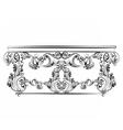 Royal table in Baroque Rococo style vector image vector image