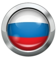 Russian flag metal button vector image vector image