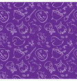 seamless pattern with Halloween design elements vector image vector image