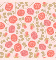 seamless pattern with pink roses image vector image vector image
