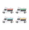 set food trucks vector image vector image