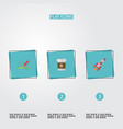 set of projects icons flat style symbols with vector image vector image