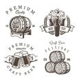 set vintage beer brewery emblems vector image