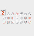 social ui pixel perfect well-crafted thin vector image vector image