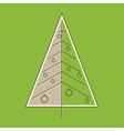 Stylized Christmas tree in retro style vector image vector image