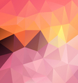 sweet pastel pink sundown polygon triangular vector image vector image