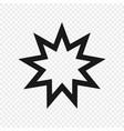 symbol bahai faith isolated vector image
