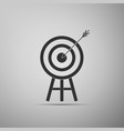target with arrow icon isolated on grey background vector image vector image