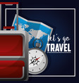 travel around the word vector image vector image