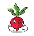 wink radish character cartoon collection vector image vector image