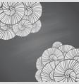 with seashells pattern on chalkboard vector image vector image