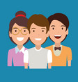 young people avatars characters vector image vector image