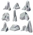 Stone Cartoon Element Isolate Set vector image
