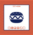 hamburger or cheeseburger icon vector image