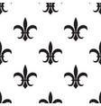 fleur de lis black pattern on white vector image