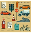 Traffic Policeman With Different Useful Tools vector image