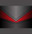 abstract metallic red gray arrow direction vector image vector image