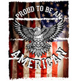 american flag and eagle grunge vector image vector image