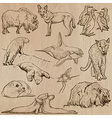 Animals around the World part 22 Hand drawn pack vector image vector image