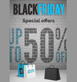 black friday day special offers realistic vector image