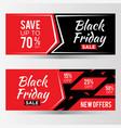 black friday sale latter banner for element vector image vector image