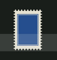 blue blank postage stamp toothed border sticker vector image