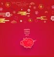bright banner with chinese elements of 2019 new vector image vector image