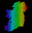 bright dotted ireland island map vector image vector image