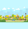 bright playground in city vector image vector image